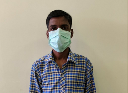 Vikas, 29-year-old who is undergoing XDR-TB treatment at MSF's clinic in Govandi. Photo credit: Padma Priya/MSF